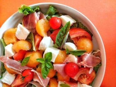 Salade_melon © Crédit photo : Maud J- Mon Assiette Gourmande