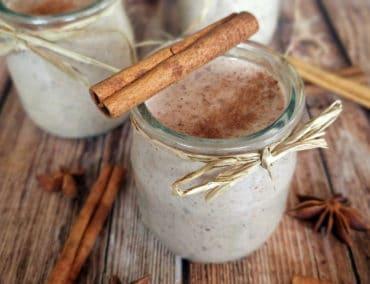 Riz au lait, noix de coco et cannelle