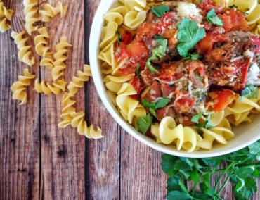 Boulettes coriandre et sauce tomates